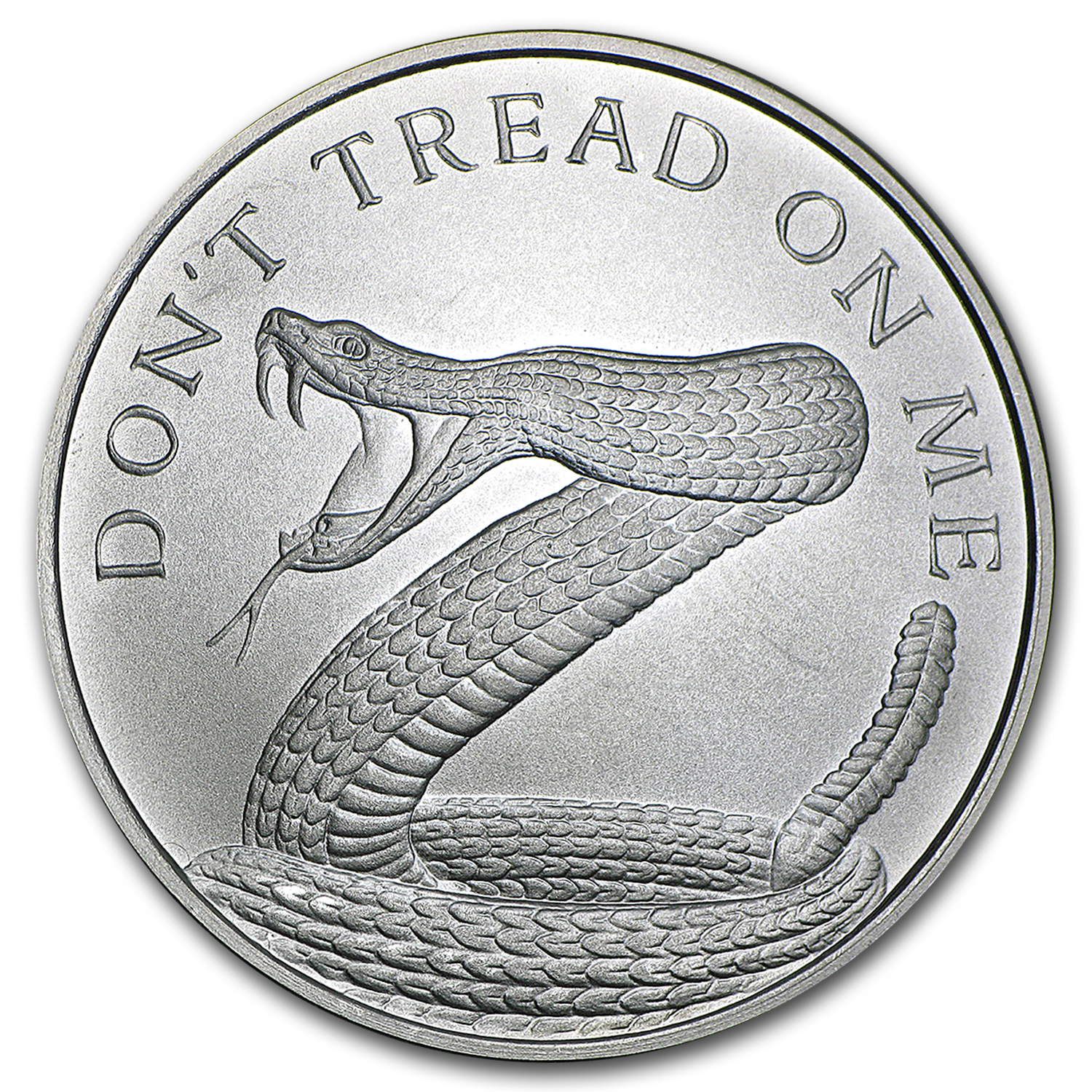 2016 1 oz Silver Shield Round - Don't Tread On Me Snake