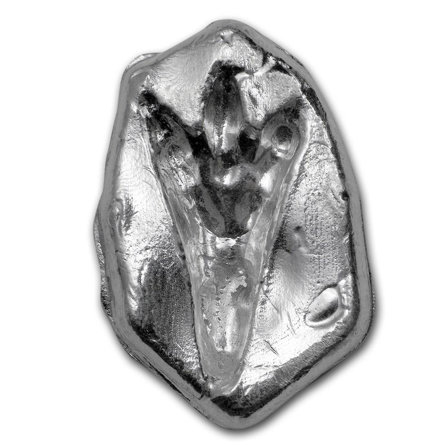2 5 Oz Silver Sunken Relief Dino Print Polished Finish