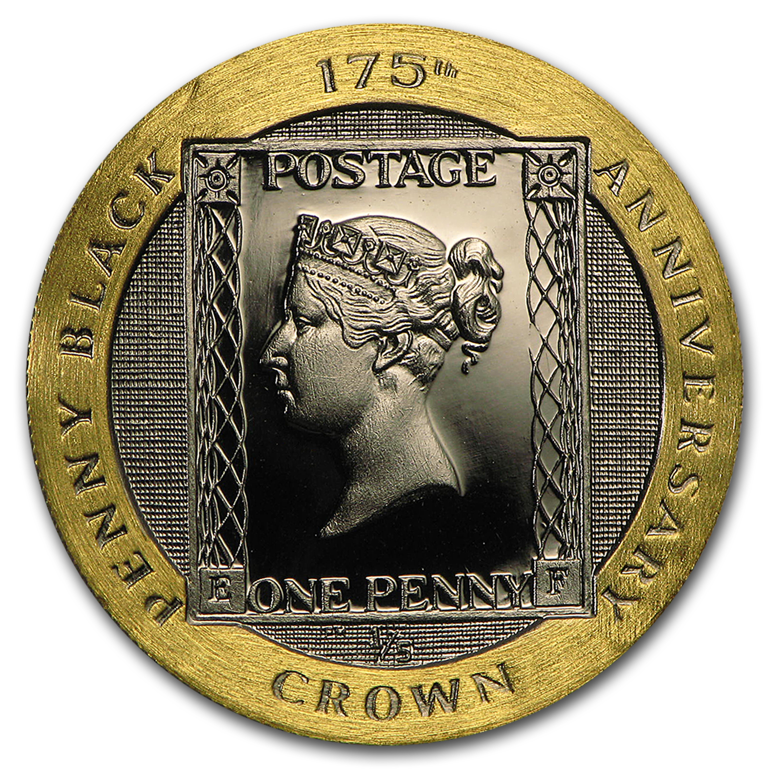 2015 Isle of Man Gold 1/5 Crown 175th Anniv Penny Black Proof
