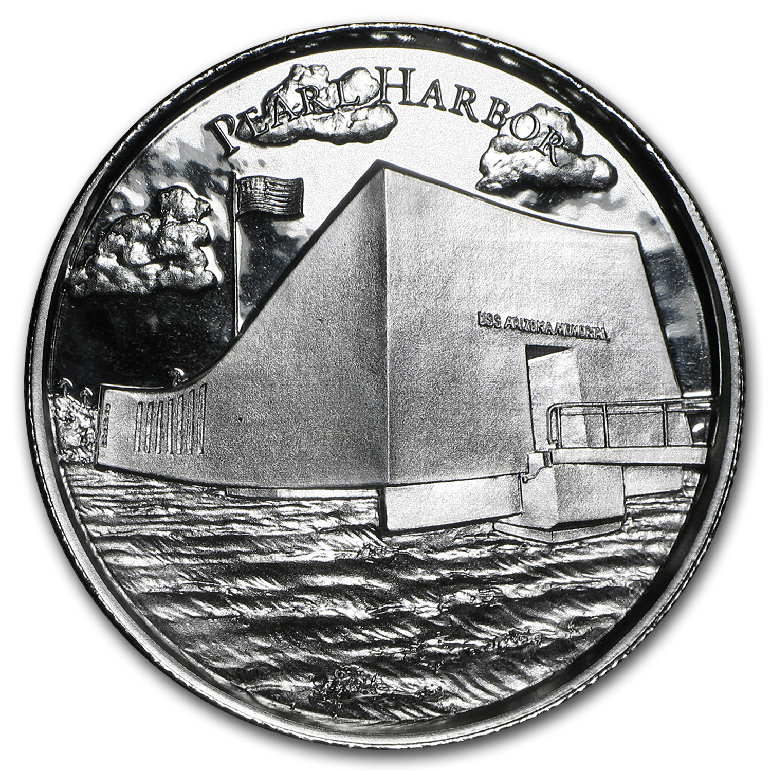 2 oz Silver Round - Pearl Harbor (Ultra High Relief)