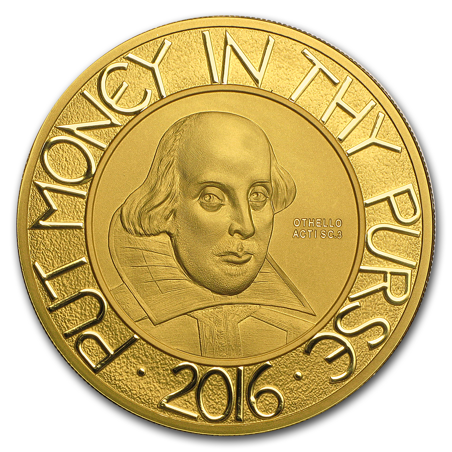 2016 Great Britain Gold 5 oz Shakespeare Proof (w/Box & COA)