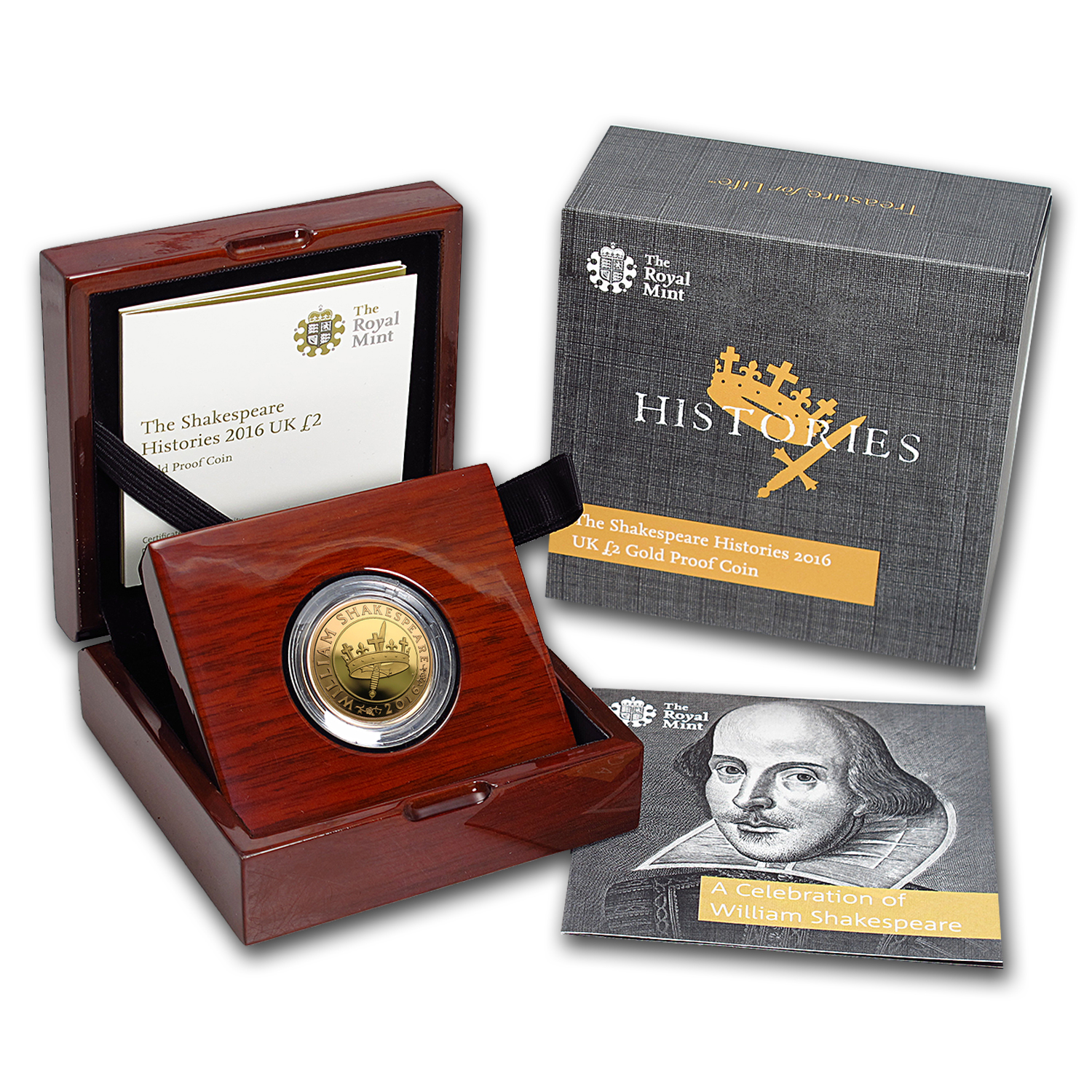 2016 Great Britain £2 Proof Gold Shakespeare Series: Histories