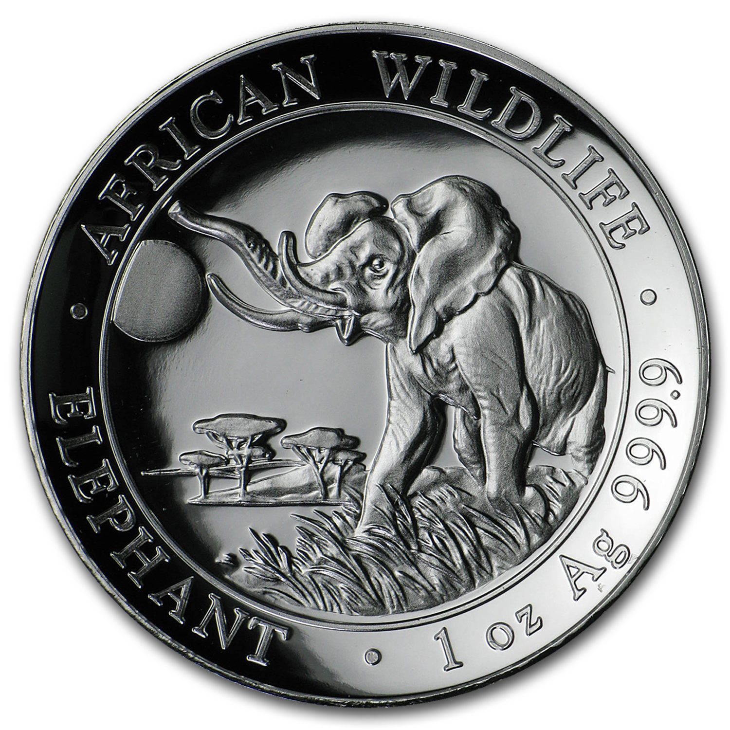 2016 Somalia 1 oz Silver Elephant (High Relief)