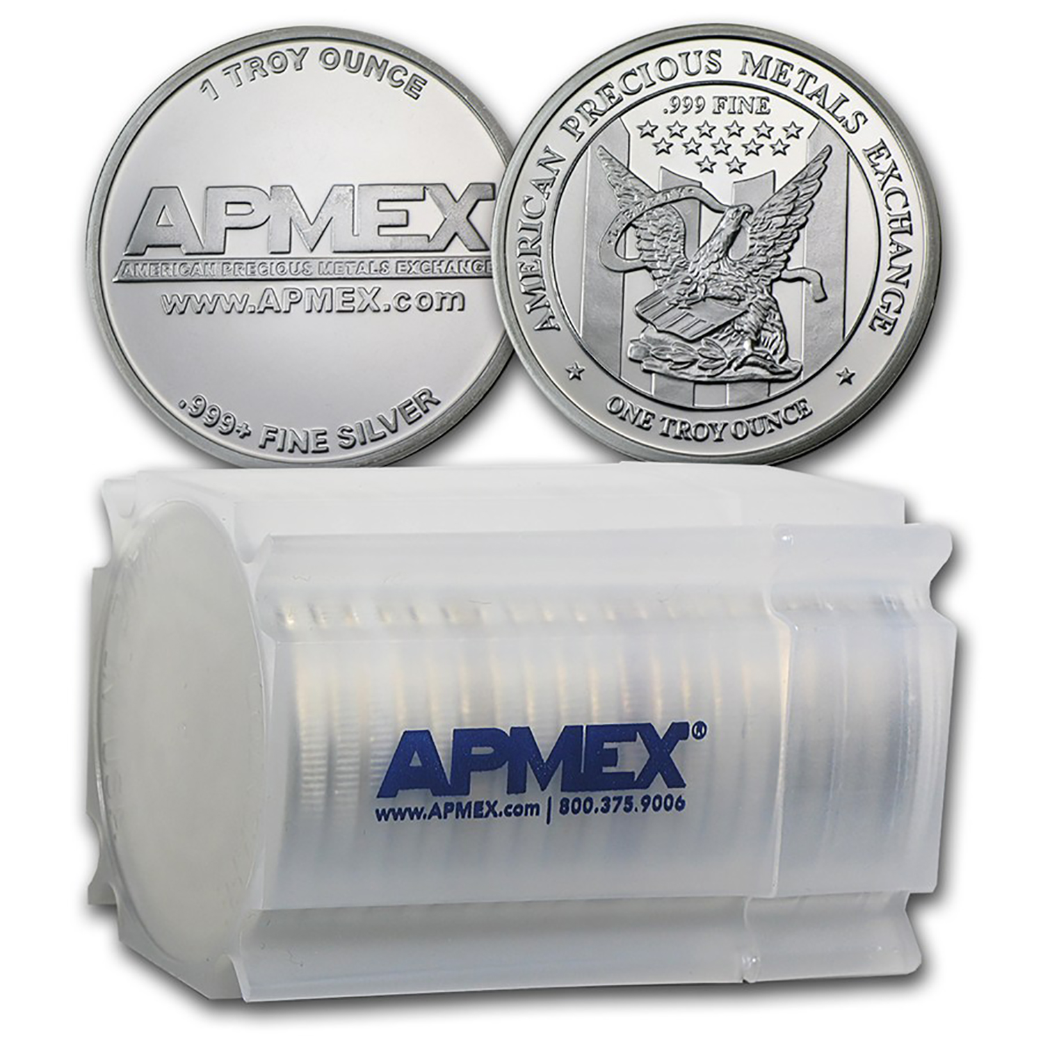 1 oz Silver Round - APMEX (Tube of 20)