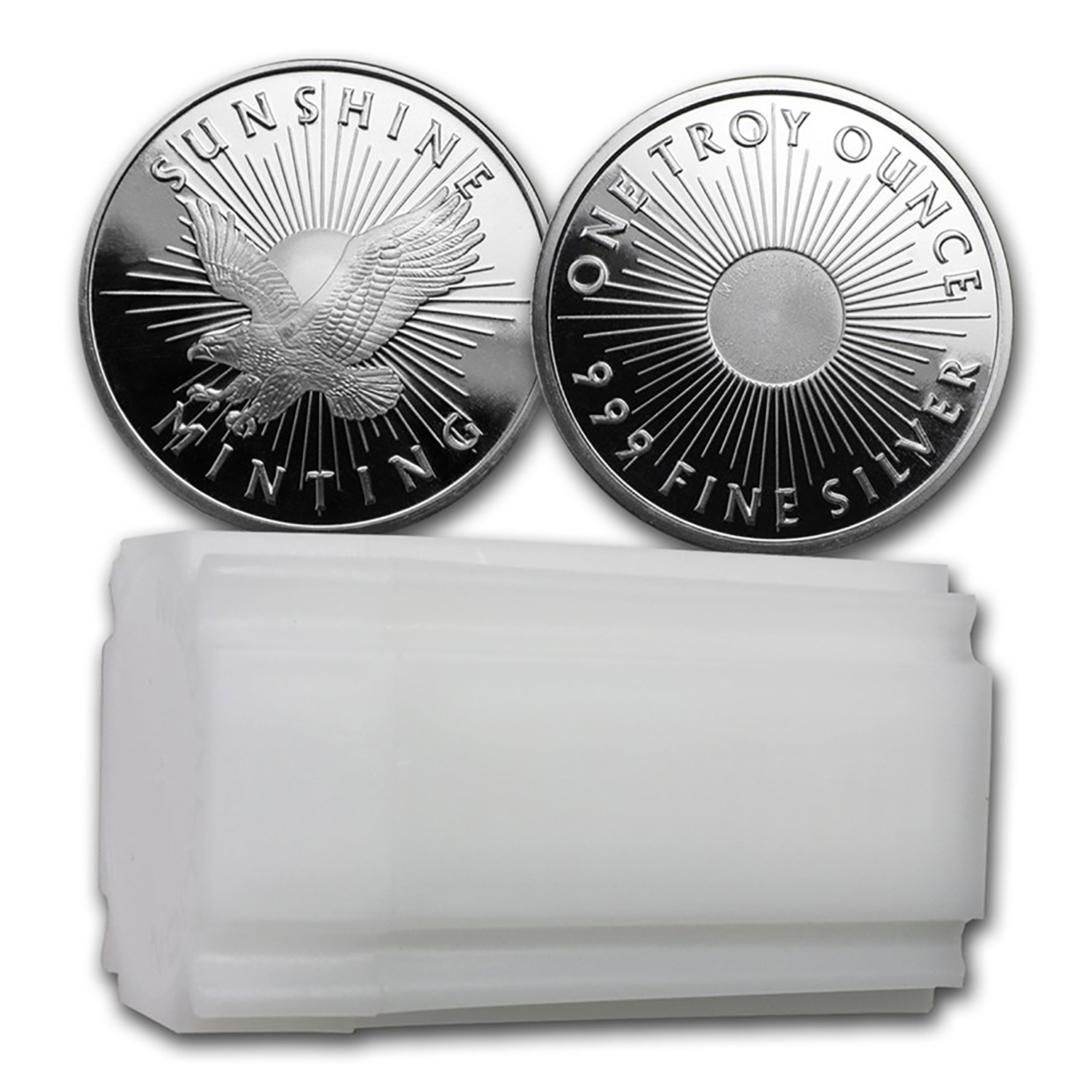 1 Oz Silver Round Sunshine Mint V2 Sunshine Mint