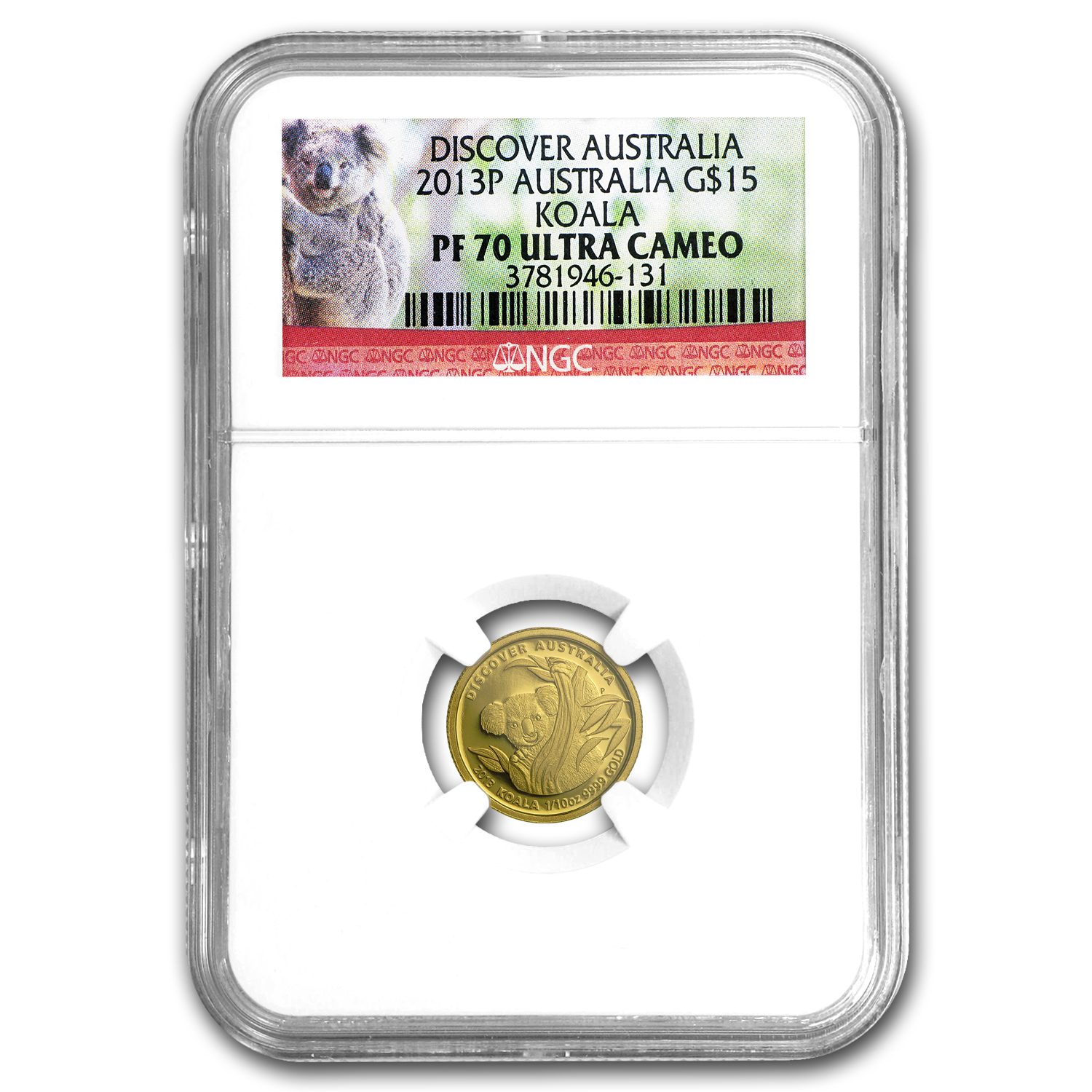 2013-P 2-Coin Gold Discover Australia Set PF-70 NGC