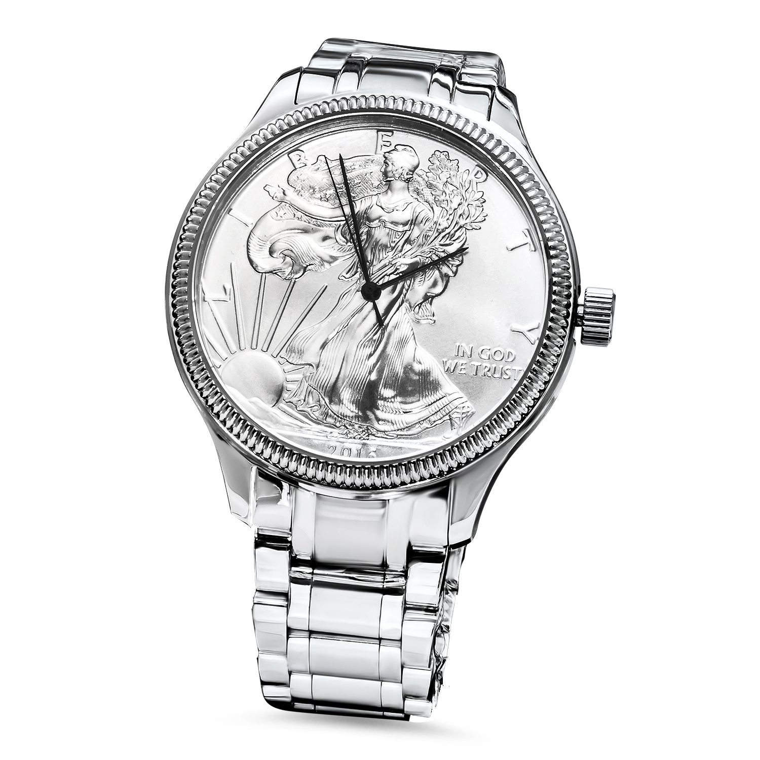 2016 Men's Silver American Eagle Watch Stainless Steel Bracelet