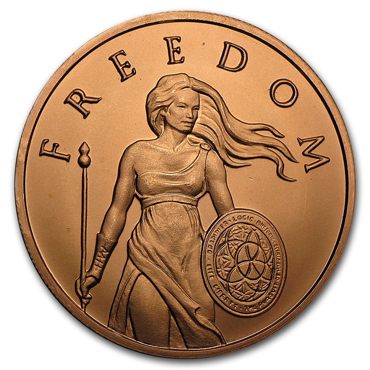 2016 1 oz Copper Round - Standing Freedom
