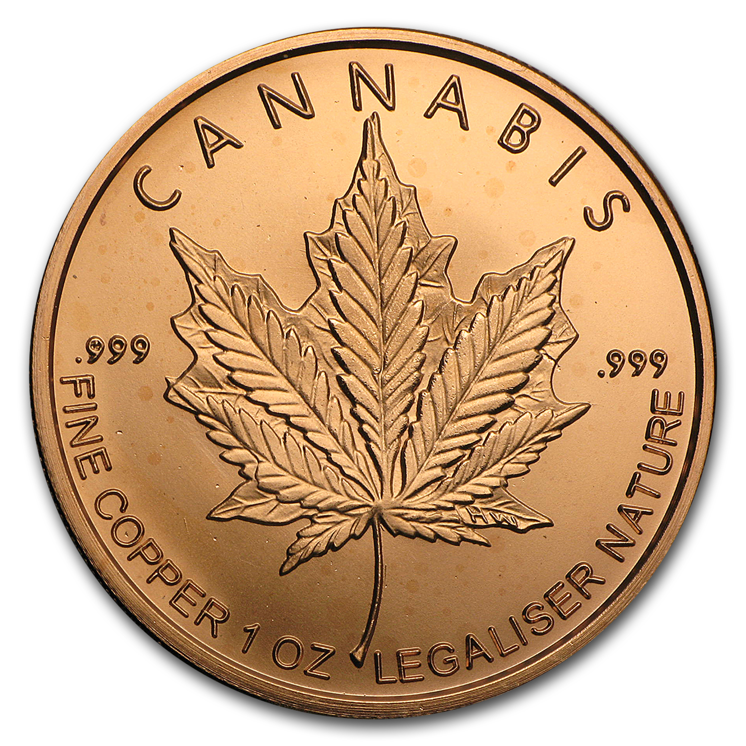 2016 1 oz Copper Round - Cannabis