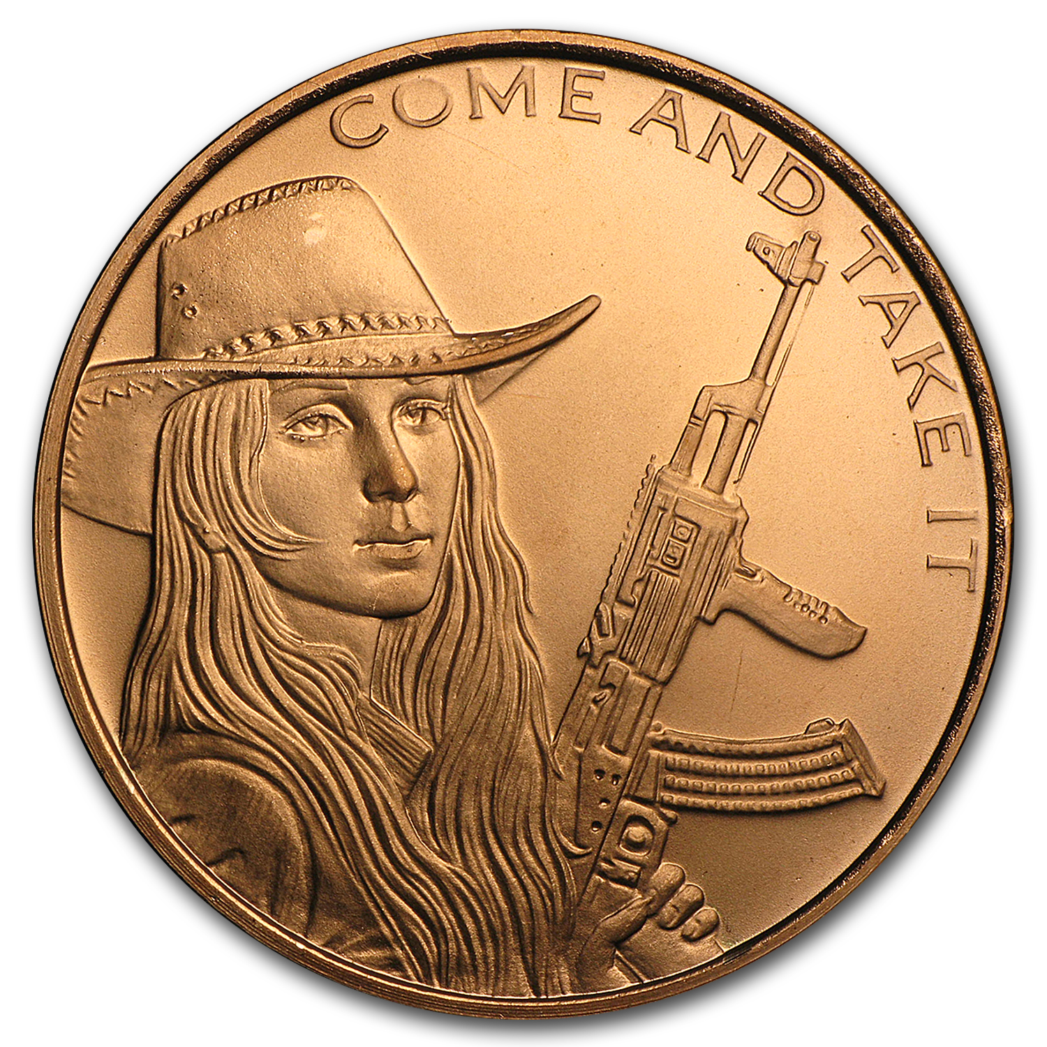 2016 1 oz Copper Round - Come and Take It
