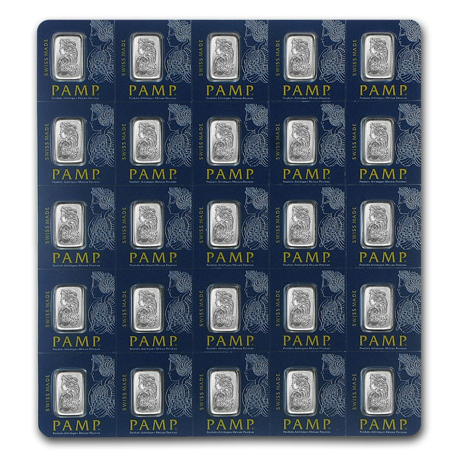 25x1 Gram Platinum Bar Pamp Suisse Multigram 25 In Assay