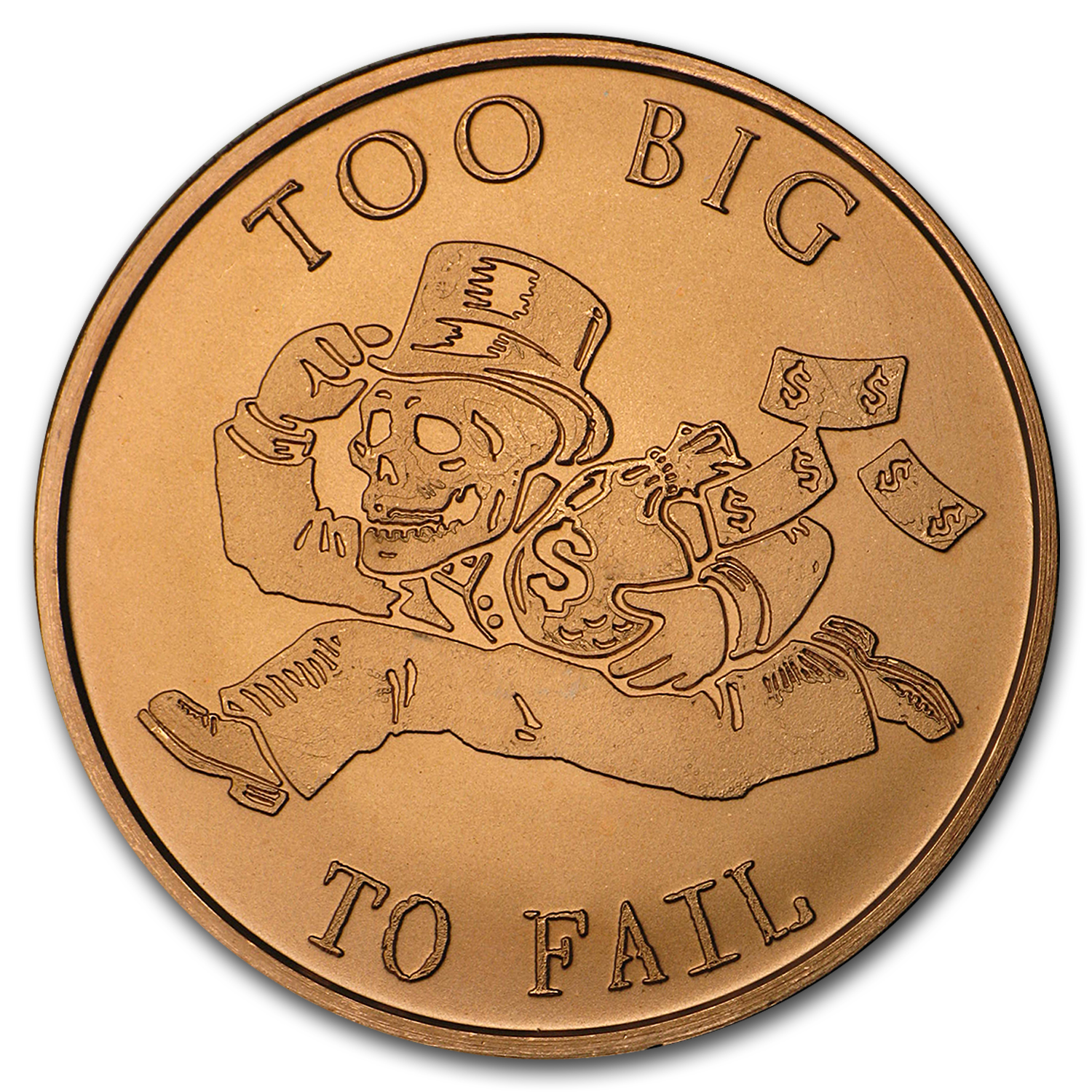 2016 1 oz Copper Round - Too Big to Fail