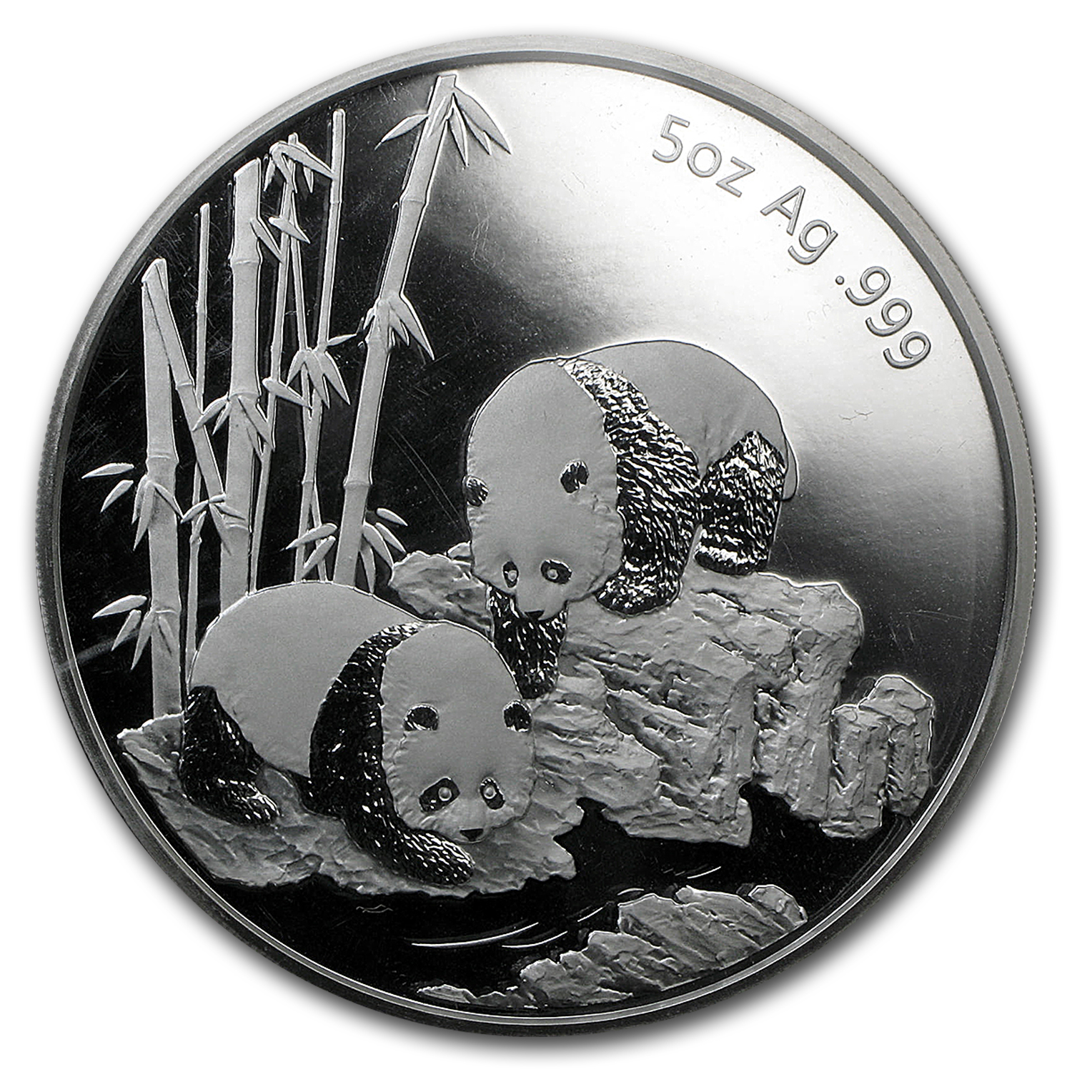 2013 China 5 oz Silver Panda Long Beach Commem (Box & COA)