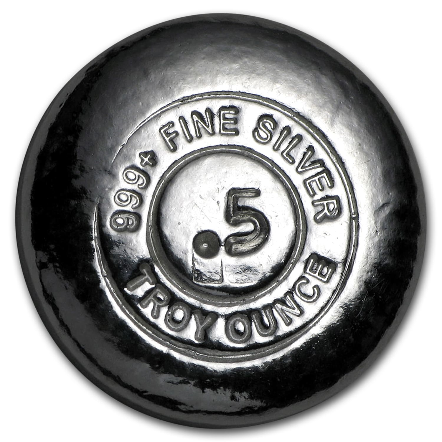 1/2 oz Silver Round - Yeager Poured Silver