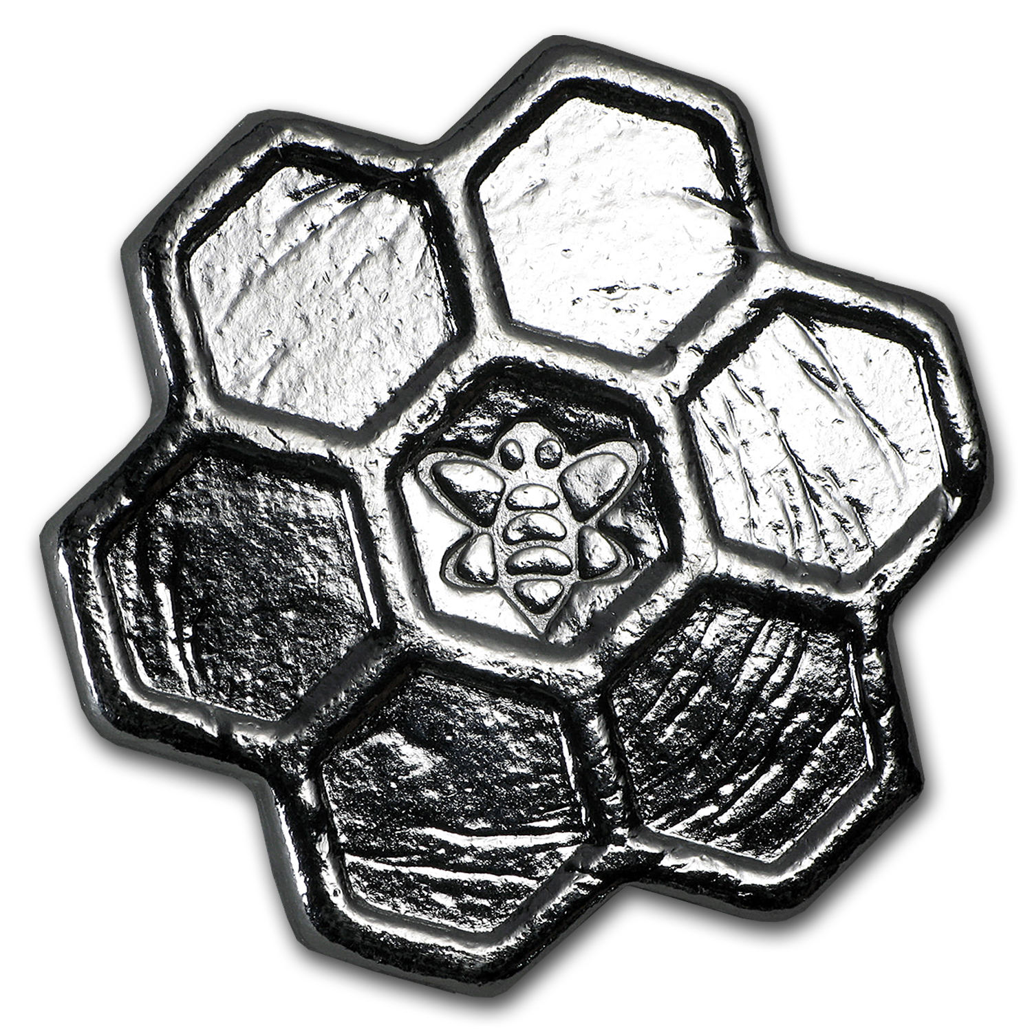 2 oz Silver - Yeager Poured Silver (Honeycomb)