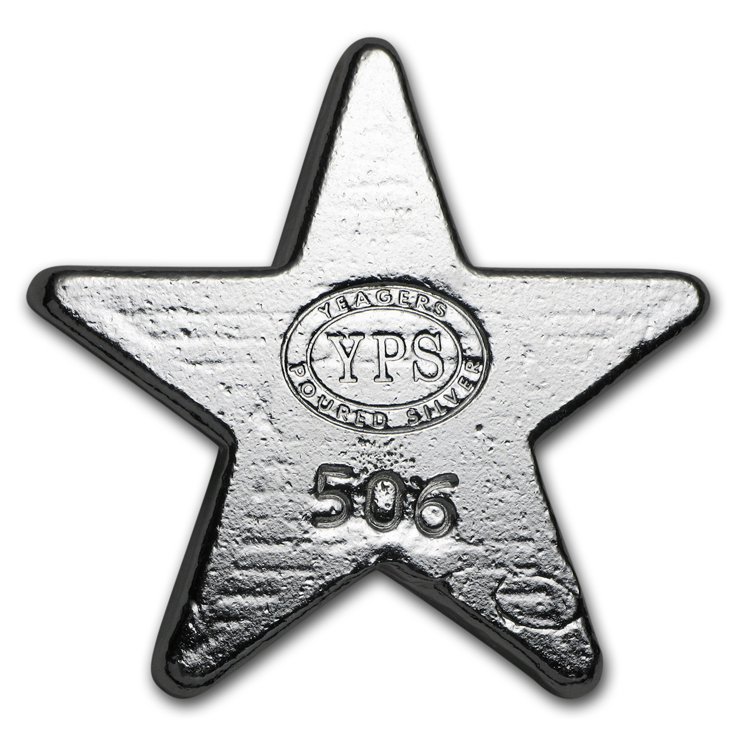2 oz Silver - Yeager Poured Silver (Star)