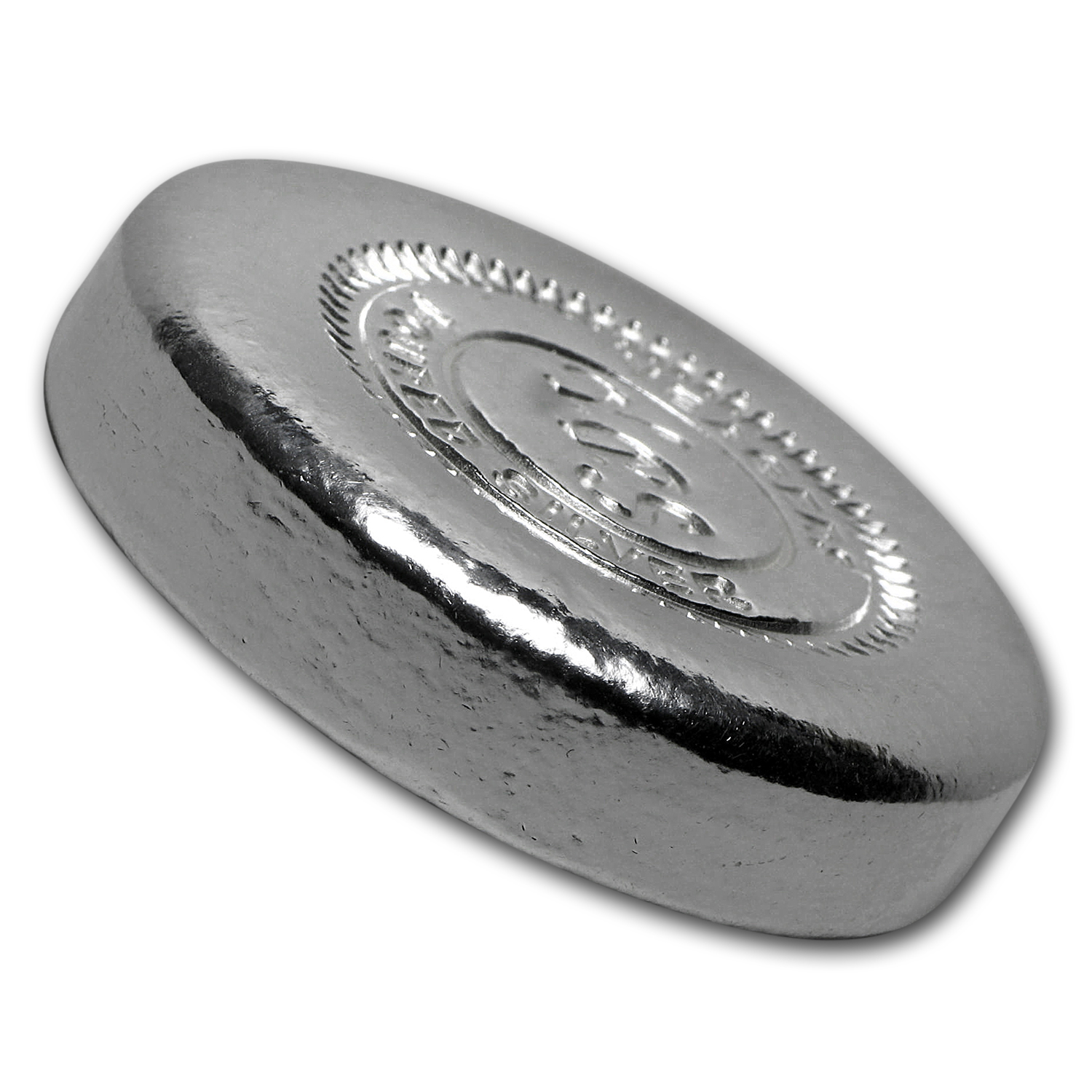 5 oz Silver Button - Yeager Poured Silver