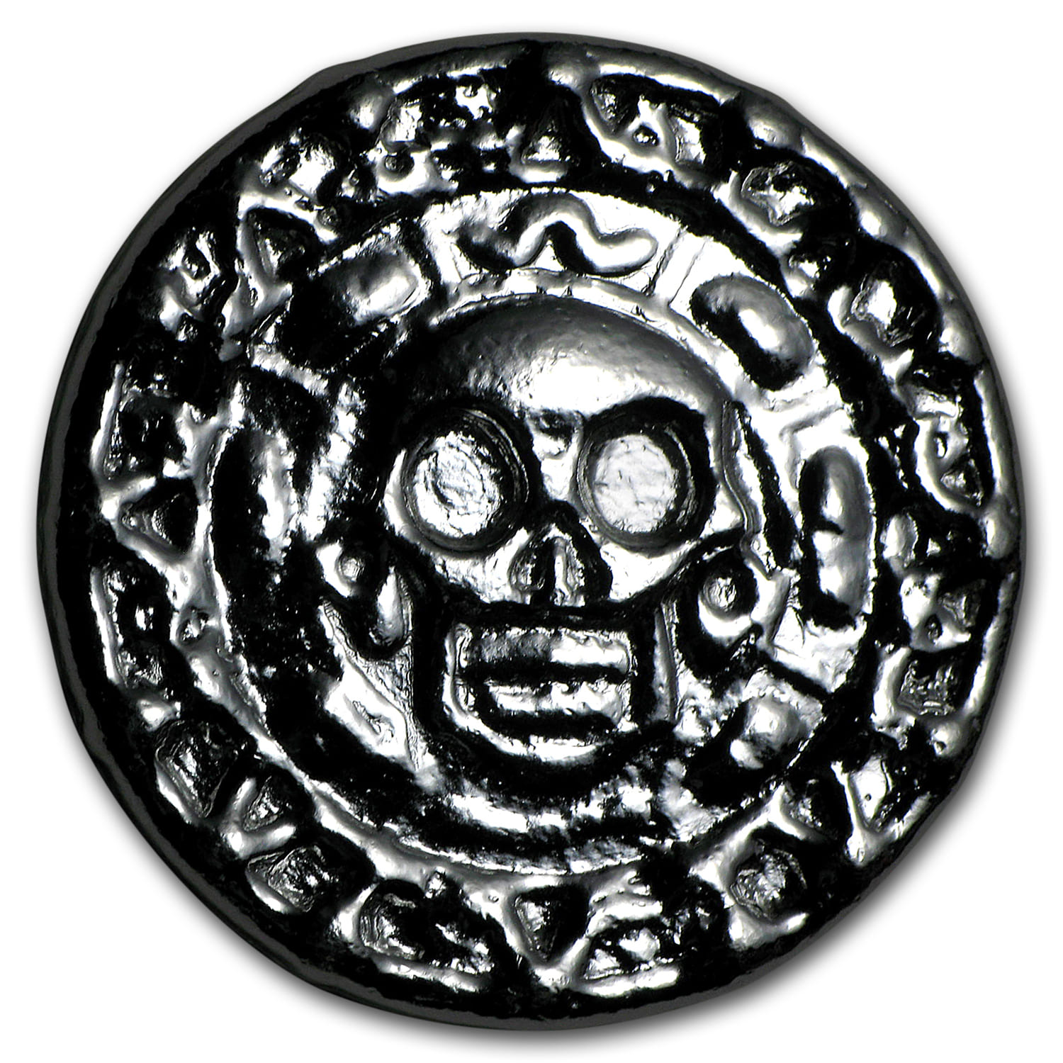 50 gram Silver Round - Yeager Poured Silver (Plata Muerta)