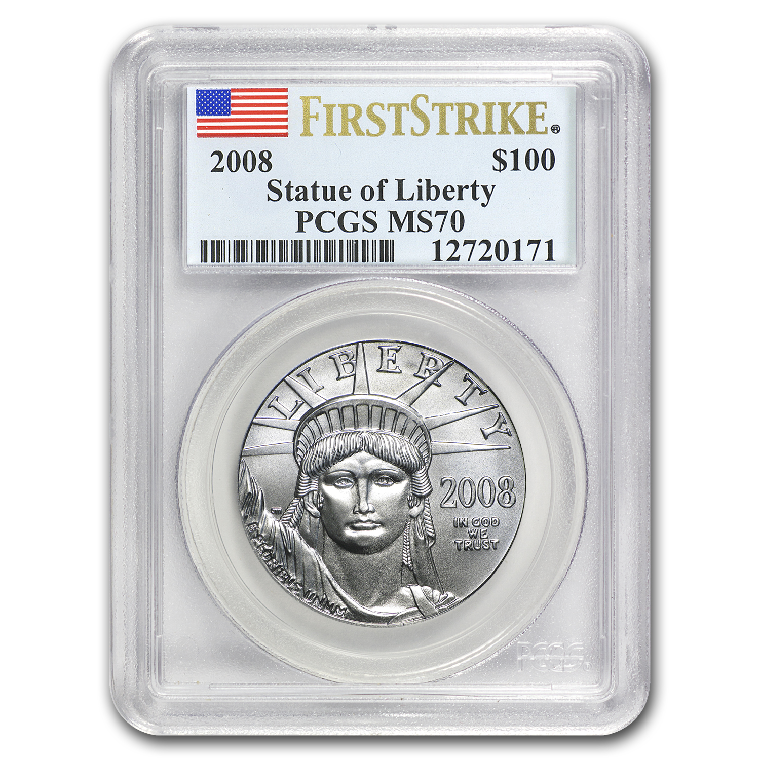 2008 1 oz Platinum American Eagle MS-70 PCGS (First Strike)