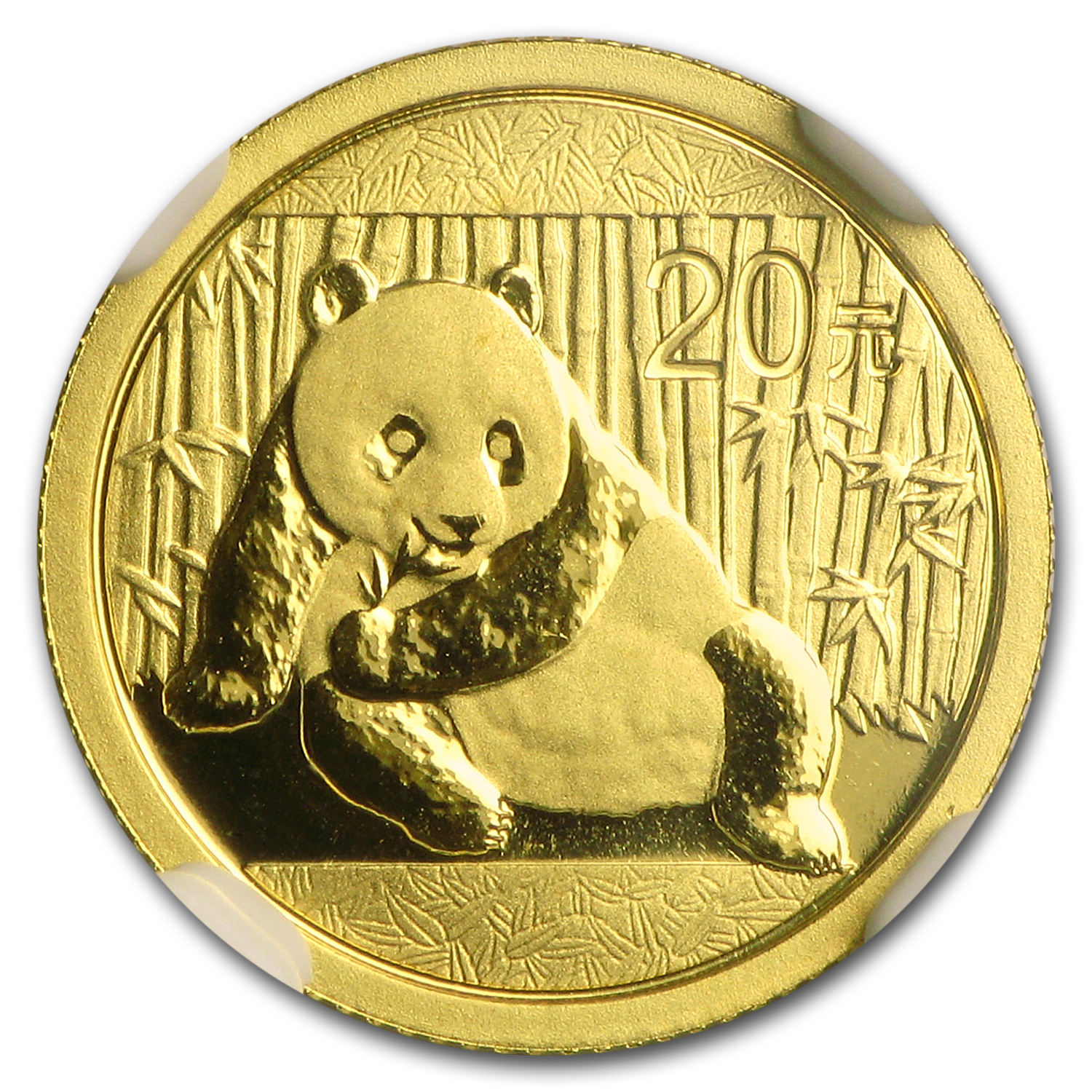 2015 China 1/20 oz Gold Panda MS-69 NGC