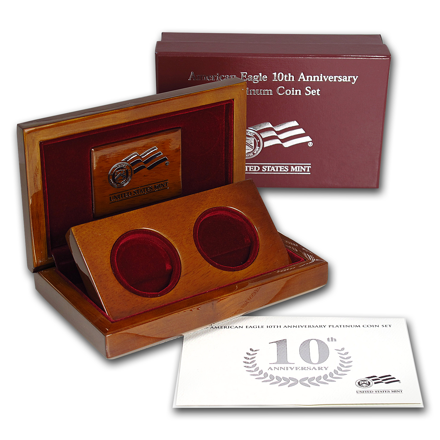 U.S. Mint Box - 2007 2-Coin Platinum Eagle Set