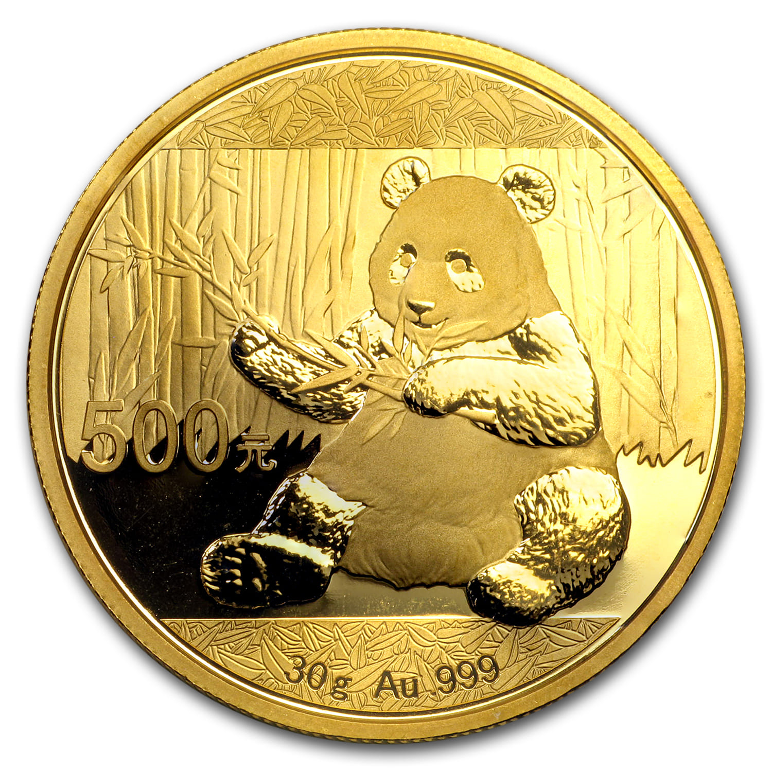 2016 China 30 gram Gold Panda BU (Not Sealed)