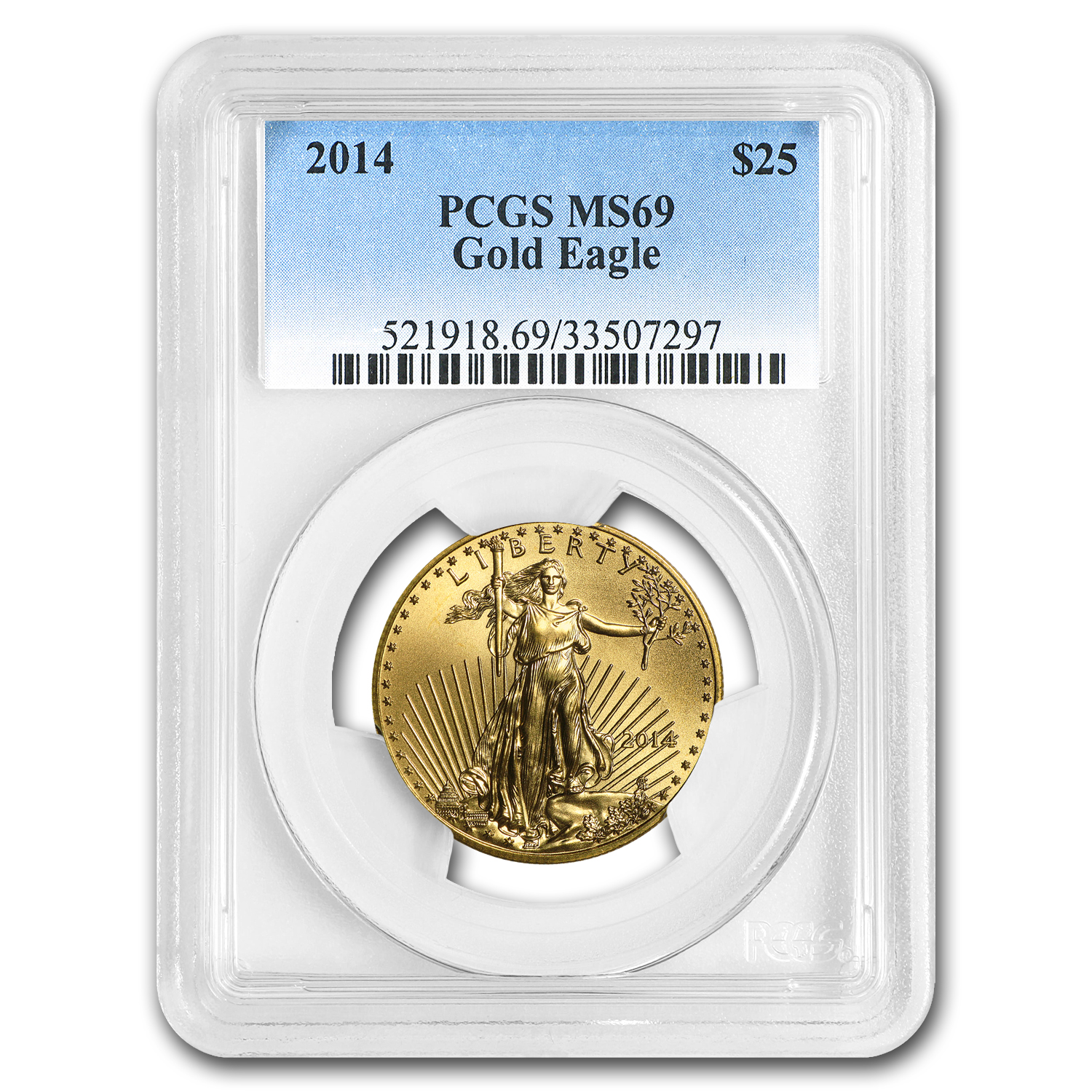 2014 1/2 oz Gold American Eagle MS-69 PCGS