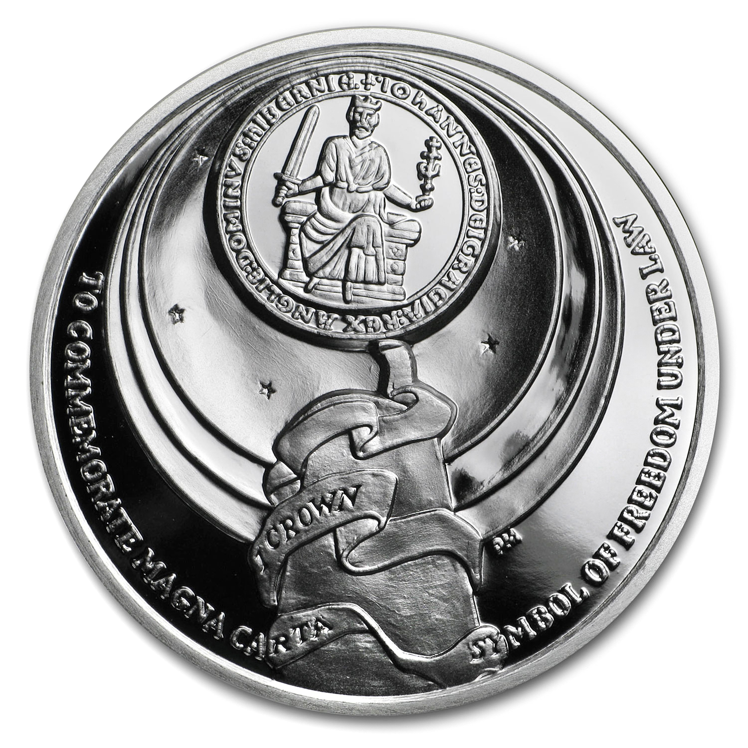 2015 Ascension Island Silver 1 Crown Magna Carta Proof