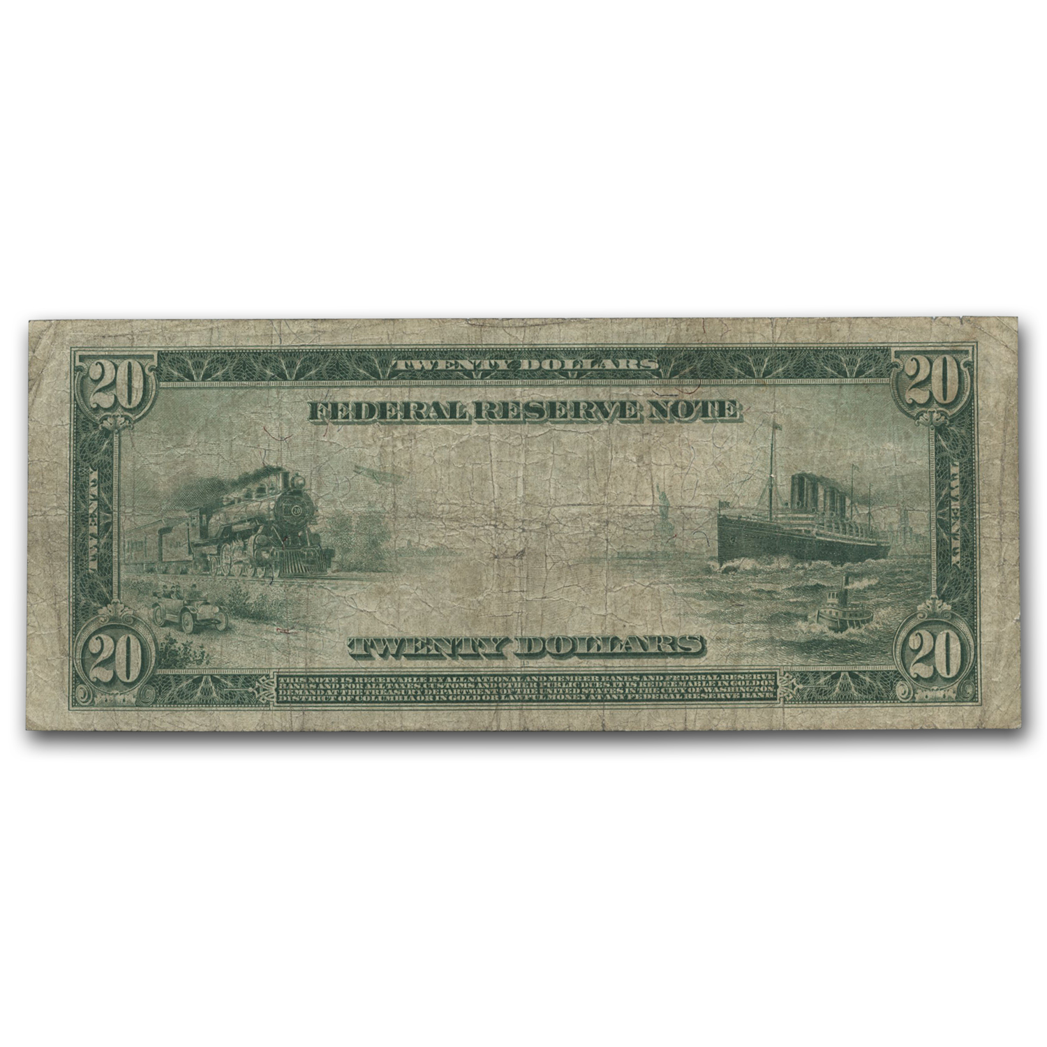 1914 (B-New York) $20 FRN Fine