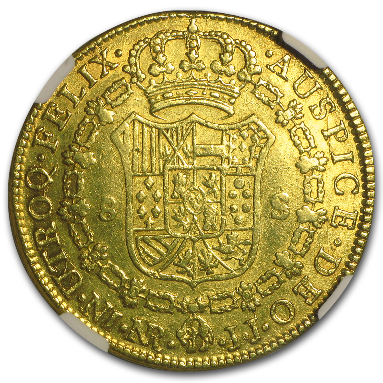 1791 Colombia Gold 8 Escudo XF Details NGC