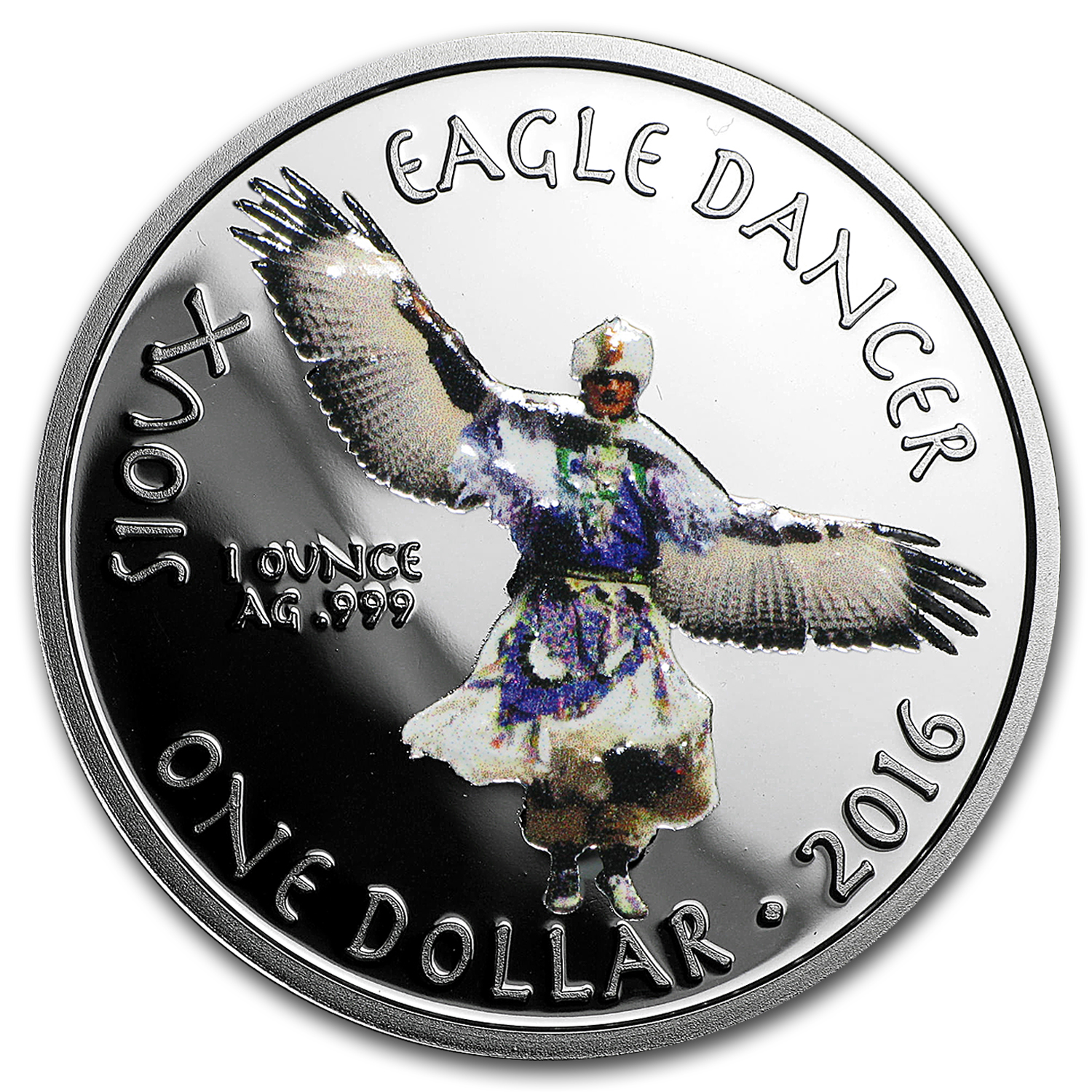 2016 1 oz Silver Proof Native American Mint $1 Eagle Dancer