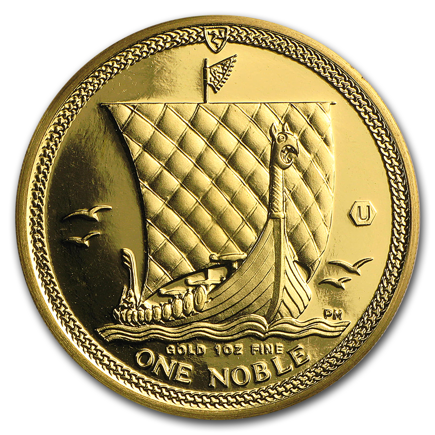 2016 Isle of Man 1 oz Gold Noble BU