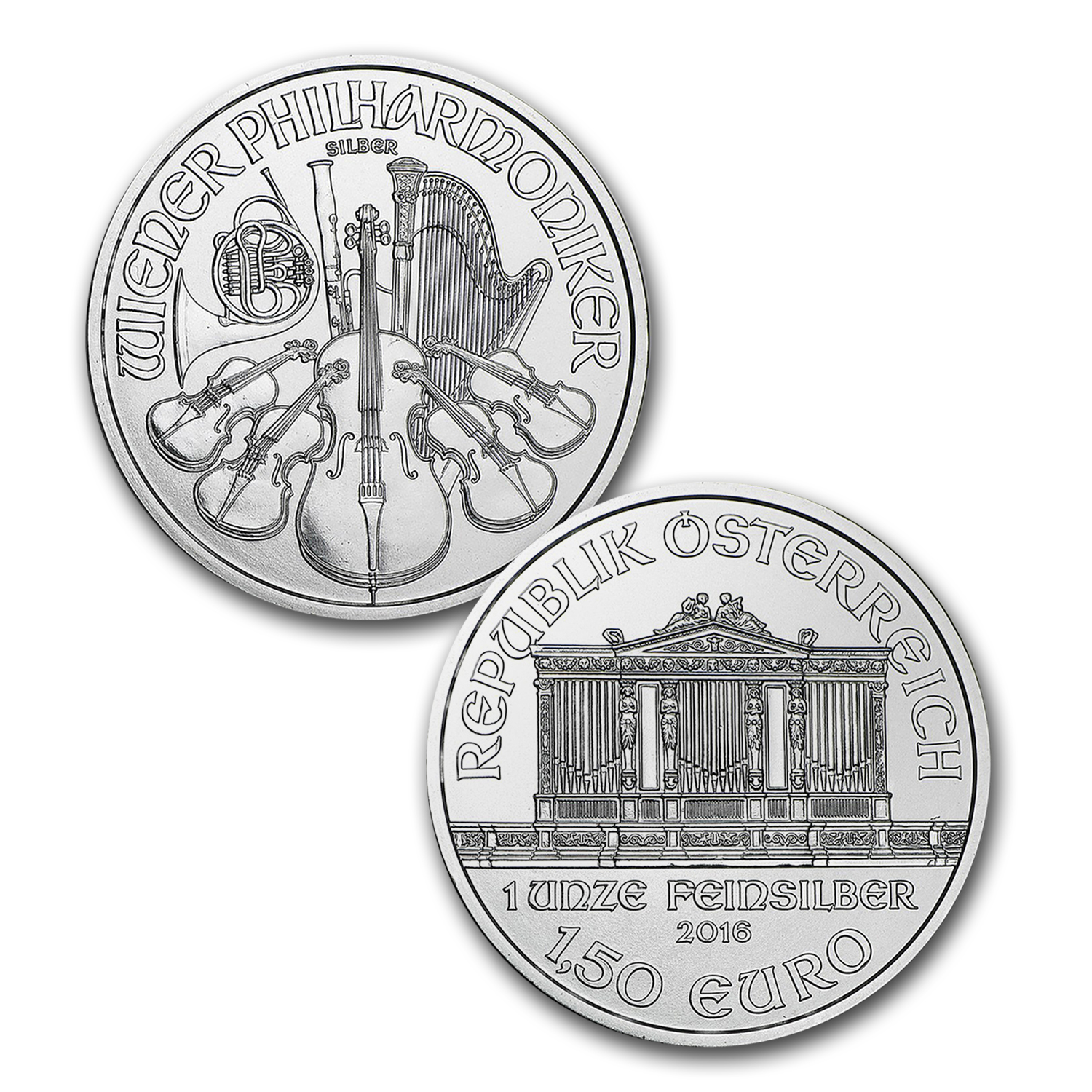 2016 Austria 3-Coin 1 oz Philharmonic Set (Gold-Silver-Platinum)