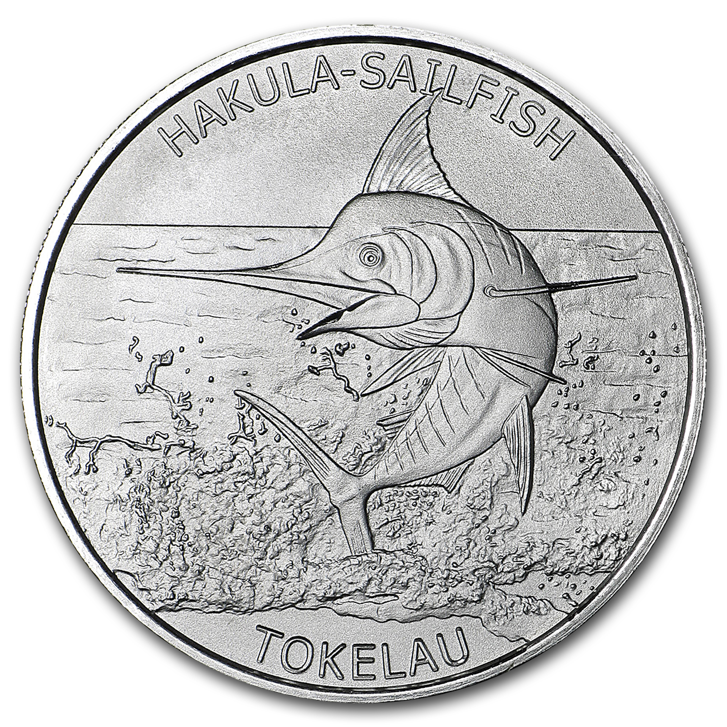 2016 Tokelau 1 oz Silver $5 Hakula Sailfish