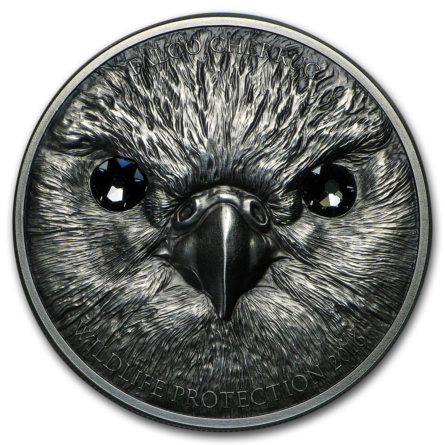2016 Mongolia 1 oz Silver Wildlife Protection Saker Falcon