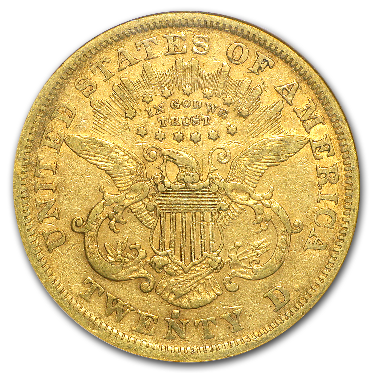1872-S $20 Liberty Gold Double Eagle XF-40 NGC