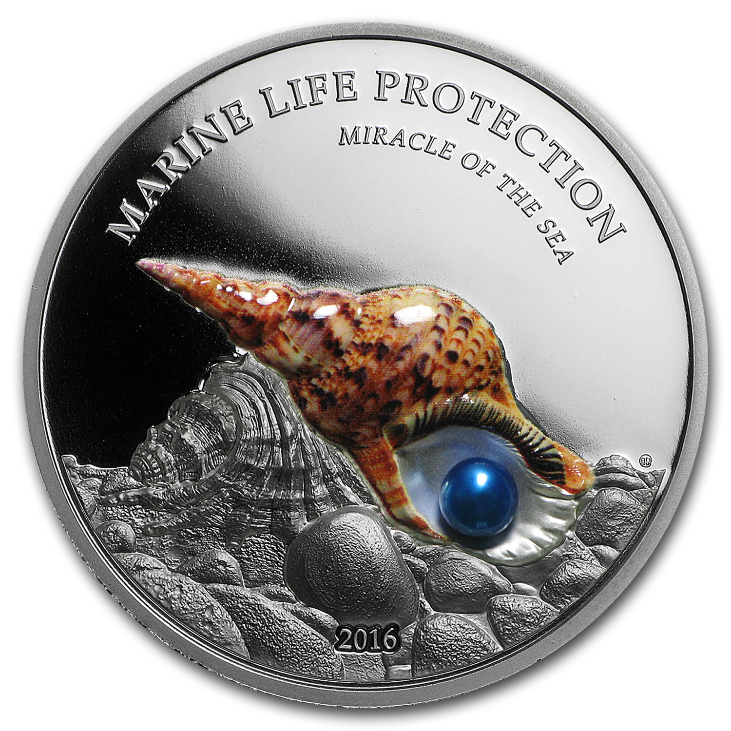 2016 Palau Silver Marine Life Protection Pearl Miracle of the Sea