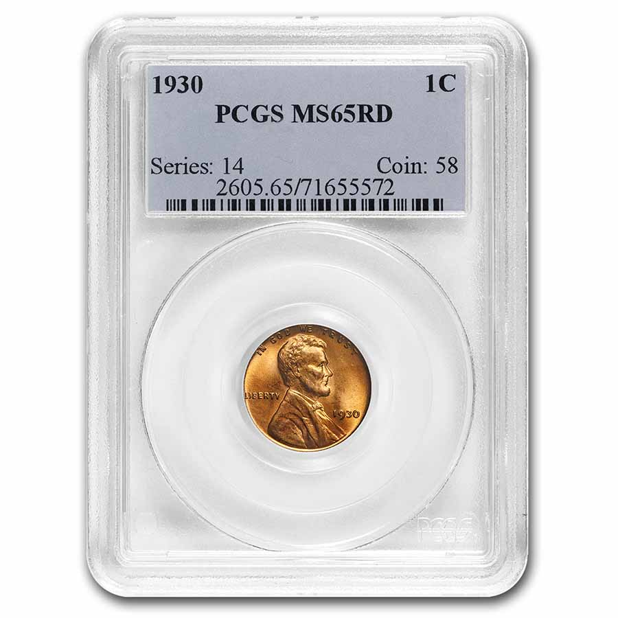 1930 Lincoln Cent MS-65 PCGS (Red)