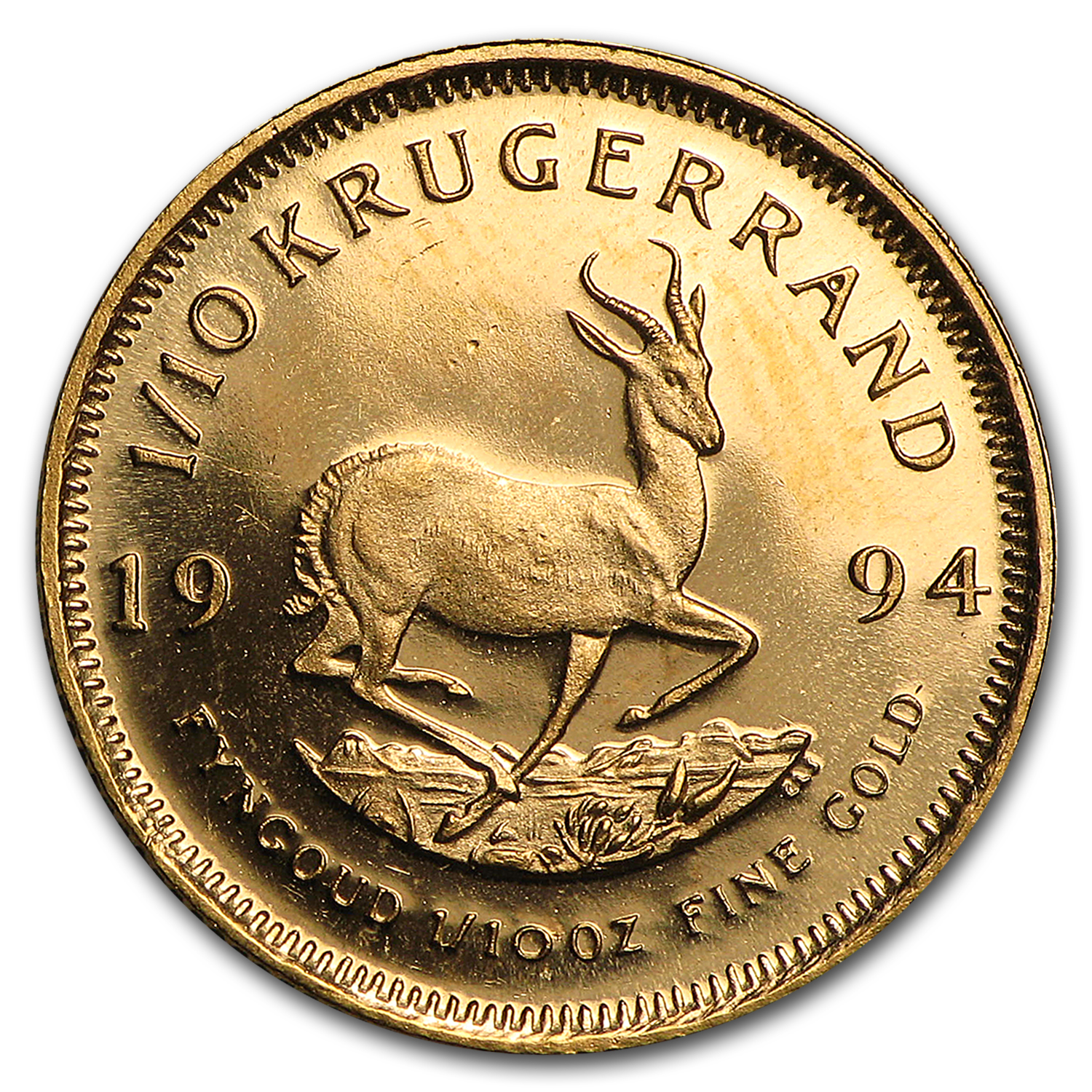 1994 South Africa 1/10 oz Gold Krugerrand BU