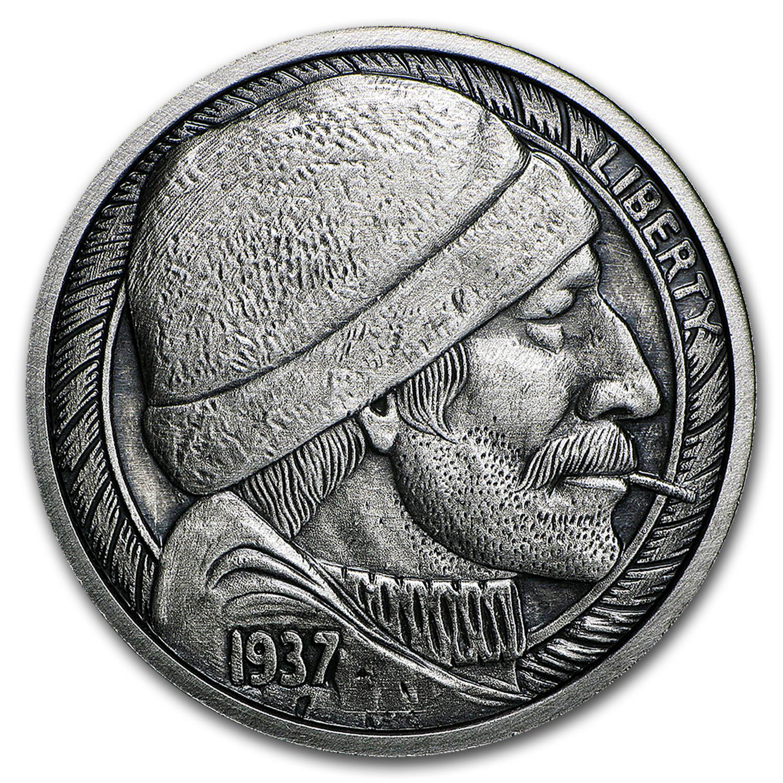 1 Oz Silver Antique Round Hobo Nickel Replica The