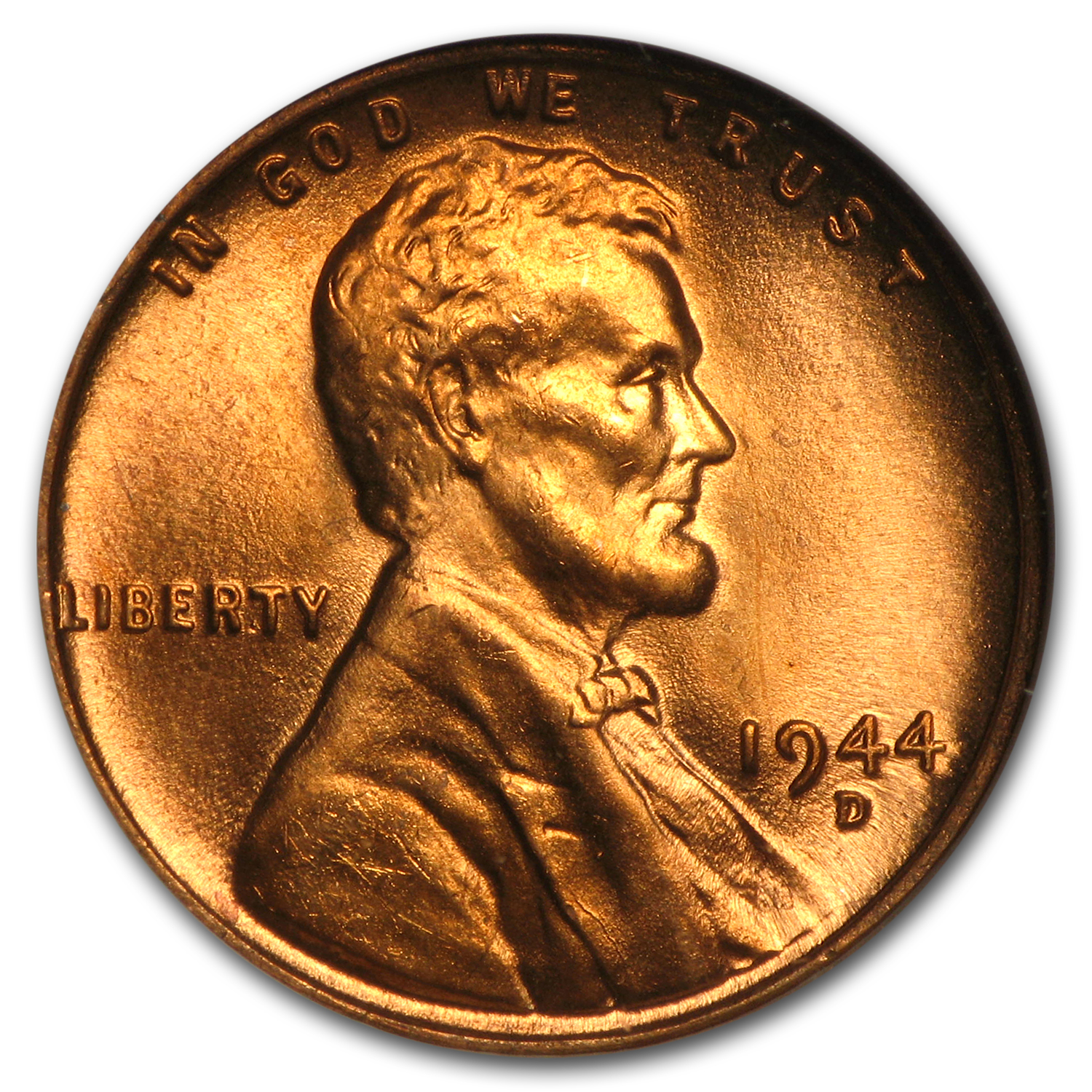 1944-D Lincoln Cent MS-66 NGC (Red)