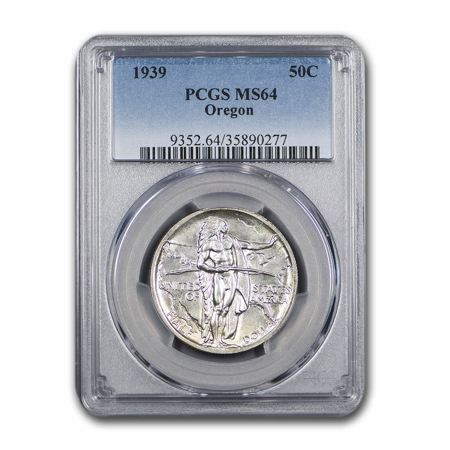 1939 Oregon Commemorative Half Dollar MS-64 PCGS
