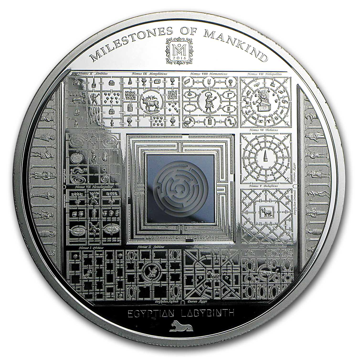 2016 Cook Islands Silver Milestones of Mankind Egyptian Labyrinth