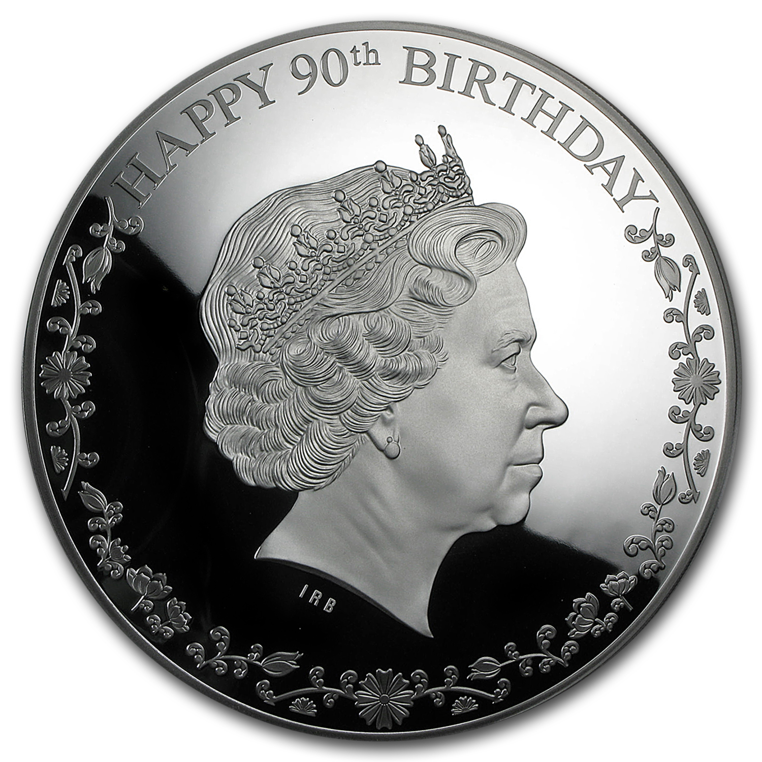 2016 Cook Islands 3 oz Silver Happy 90th Birthday Elizabeth II