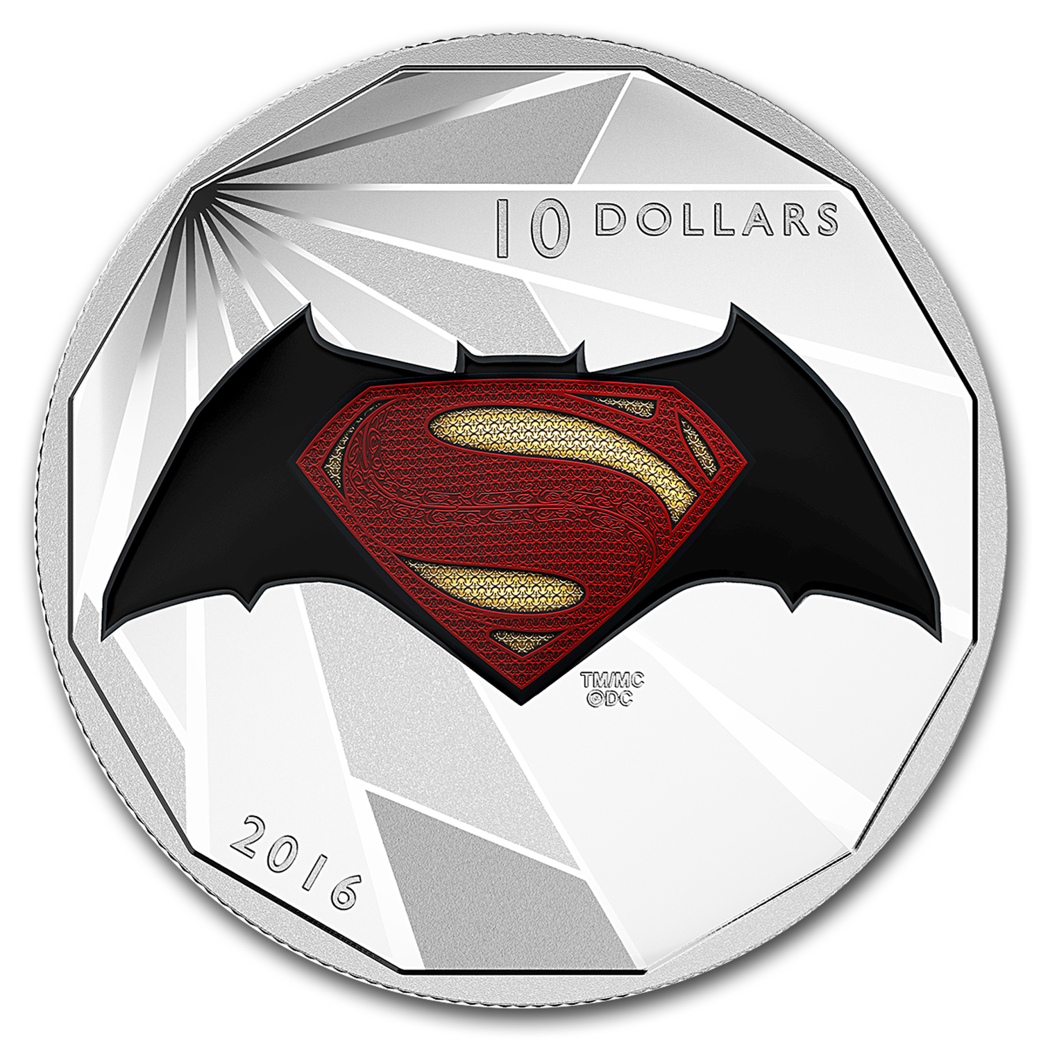 2016 Canada 1/2 oz Silver $10 Batman v Superman: Logo