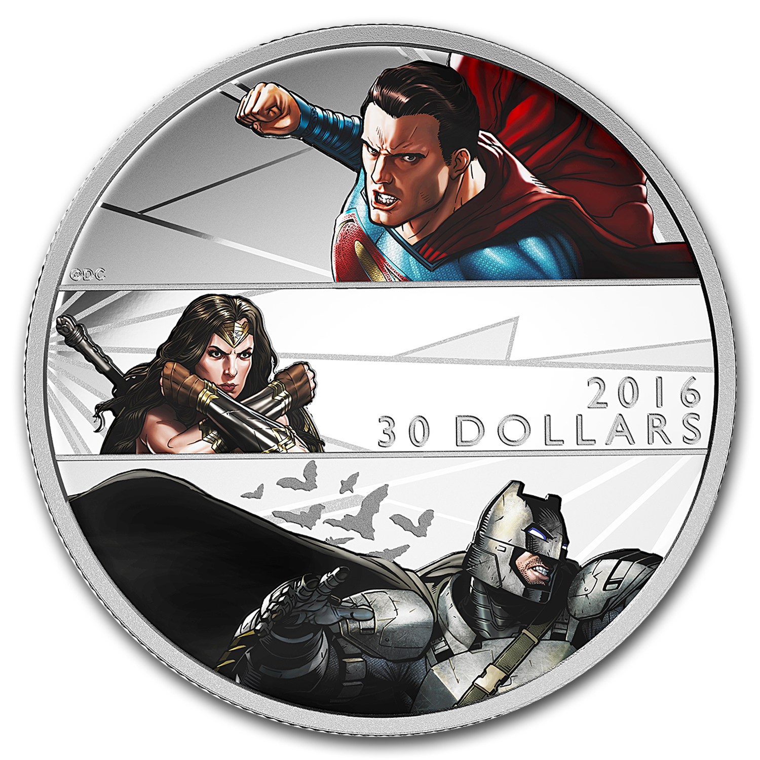 2016 Canada 2 oz Silver $30 Batman v Superman: Dawn of Justice
