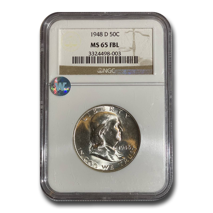 1948-D Franklin Half Dollar MS-65 NGC (FBL)