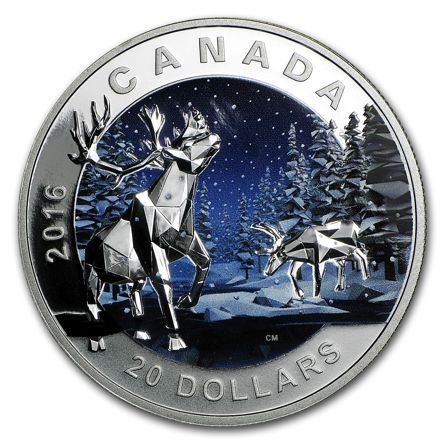2016 Canada 1 oz Silver Geometry in Art: The Caribou