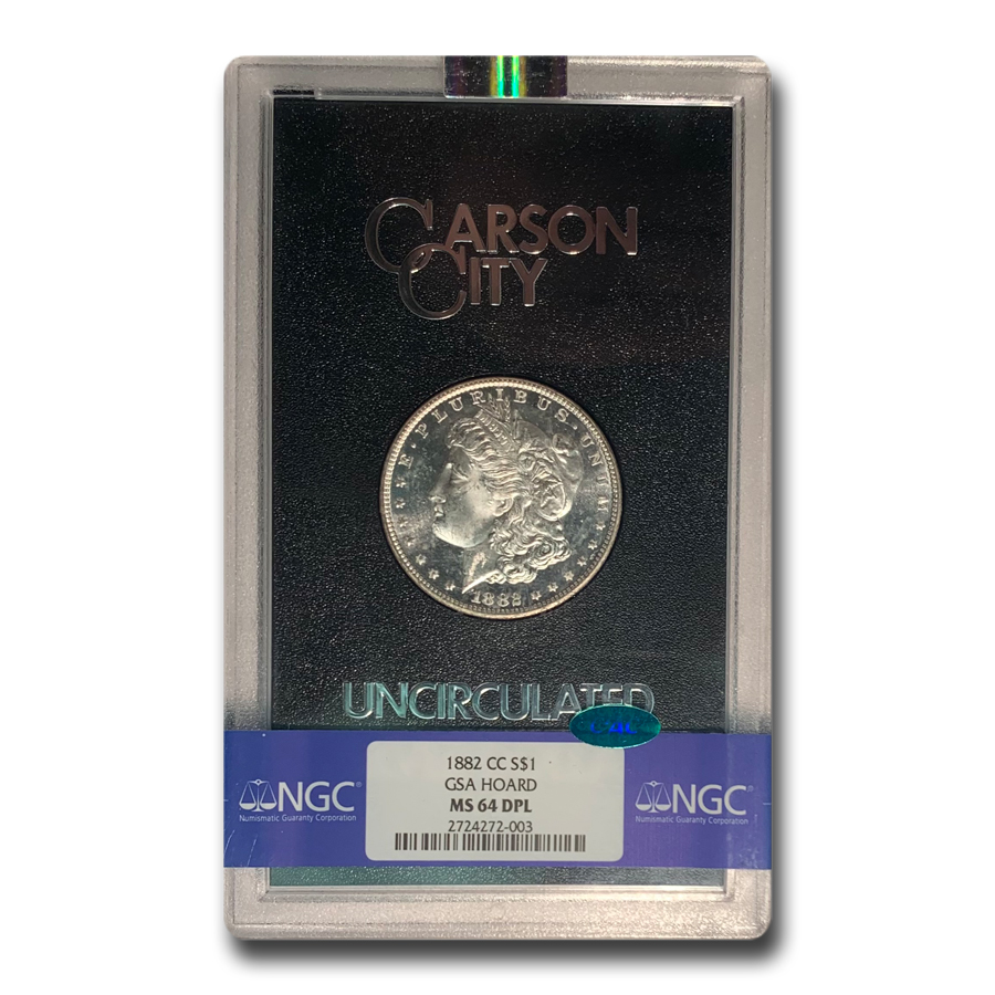 1882-CC Morgan Dollar MS-64 DPL NGC CAC (GSA)