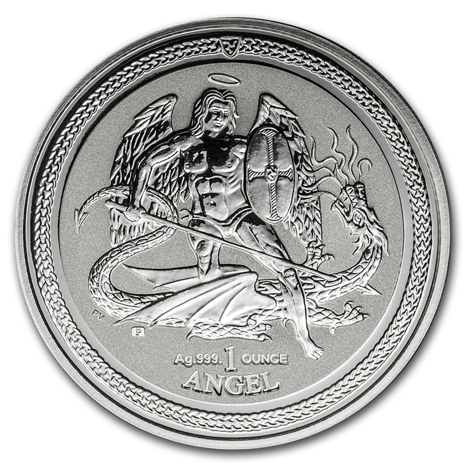 2016 Isle of Man 1 oz Silver Angel Reverse Proof